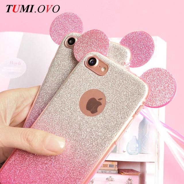 3D De Luxe Minnie Mickey Mouse Oreilles Doux TPU Cas Pour Samsung Galaxy A3 A5 J3 640x640