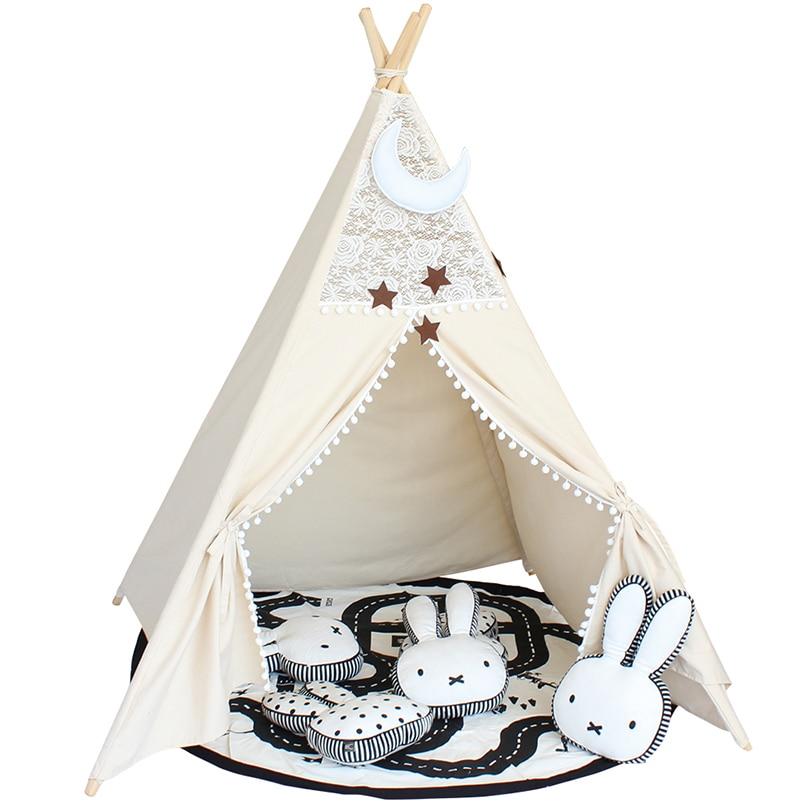Laço tipi tenda para crianças algodão teepees