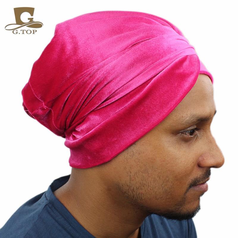 b906333654b women Luxury pleated velvet Turban hijab Head Wrap Extra Long tube ...