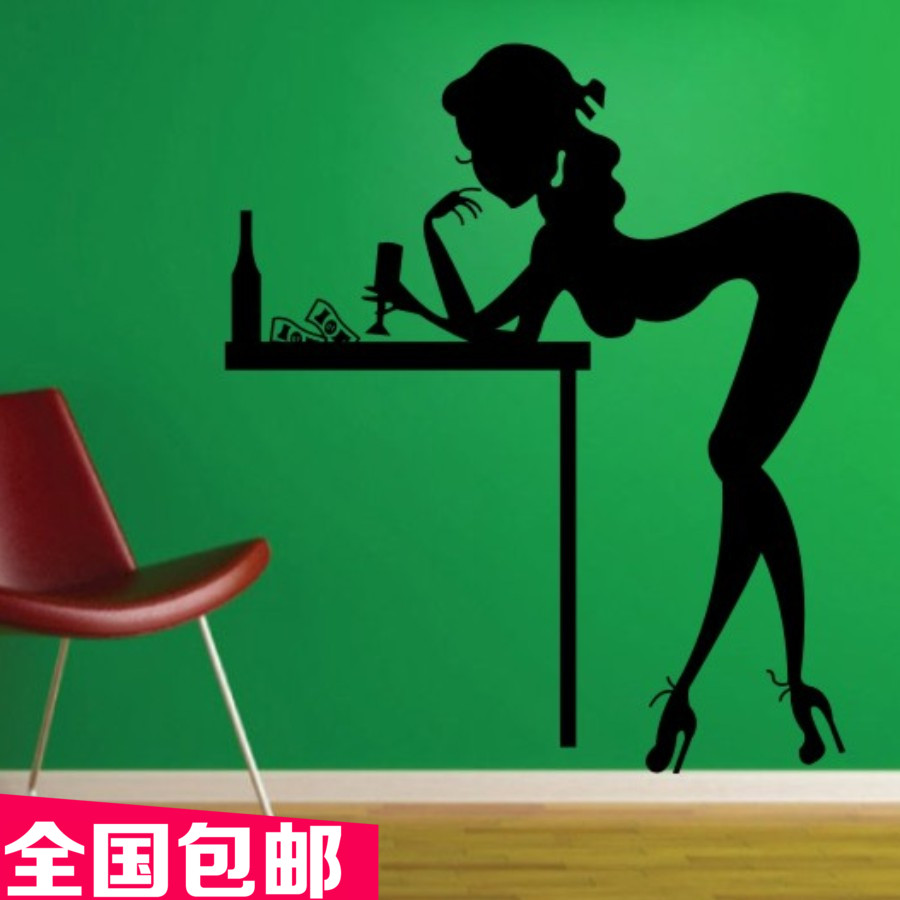 Pole Dancing Vinyl Wall Decal Sex girl Lady Wall Stikcer Pub Bar Wall Decor Bedroom Home Decorative Decoration