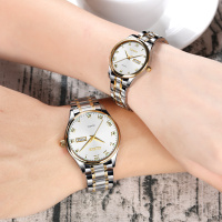 Couple Watch men women quartz wristwatches OLEVS Luxury brand Stainless Steel Luminous rose gold Lovers watches erkek kol saati