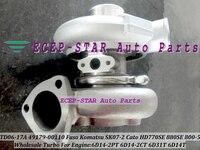 TD06-17A 49179-00110 Turbo Turbocharger Para Mitsubishi Fuso TRUCK Óleo SK07-2 HD770SE 880SE CATO 800-5 Kato Escavadeira 6D31T 6D14T