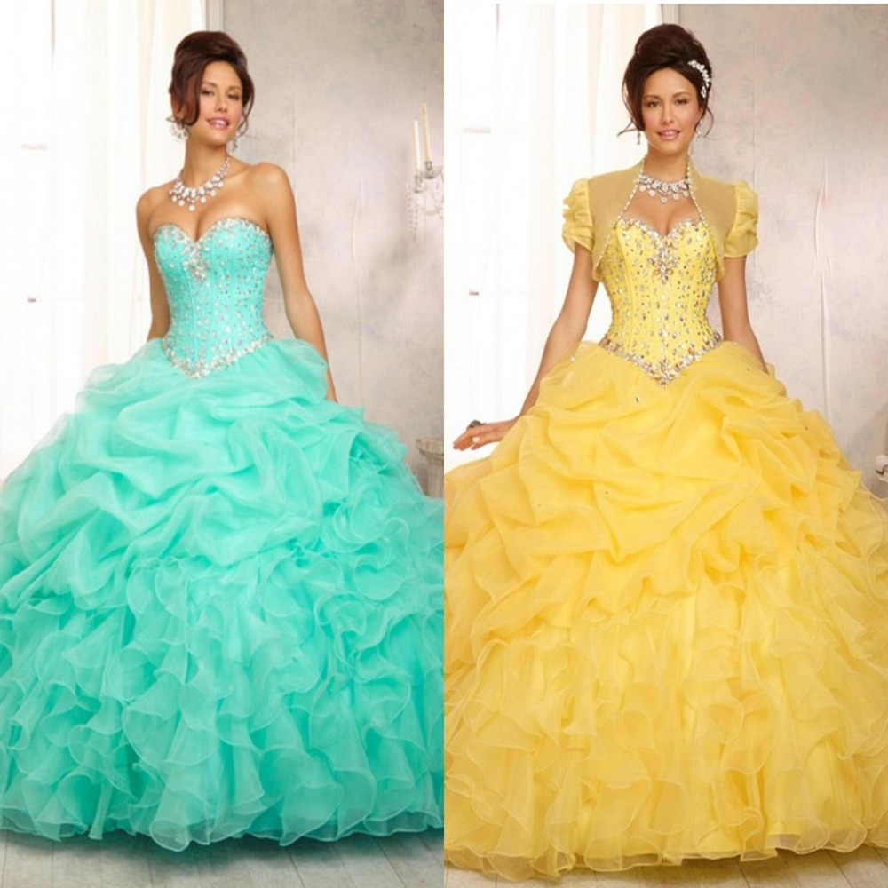 Yellow Sweet 15 Dresses | Dress images