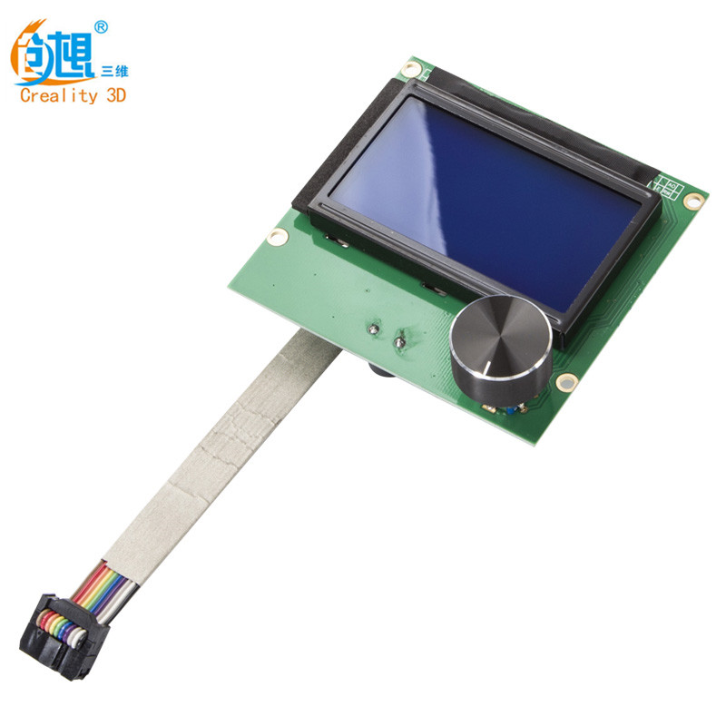 Newest Ender-3 3D Printer Dispaly Screen 1.4 <font><b>LCD</b></font> <font><b>12864</b></font> <font><b>RAMPS</b></font> Screen+Cable For CREALITY Ender-3 3D Printer image