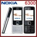 Abierto original nokia 6300 gsm 860 mah apoyo ruso y árabe teclado tri-banda de teléfono móvil multi-idioma envío gratis