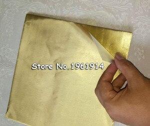 100 листов 20*20 см золотая алюминиевая фольга оберточная бумага Свадебная шоколадная бумага упаковочная бумага для конфет бумажные листы Бес...