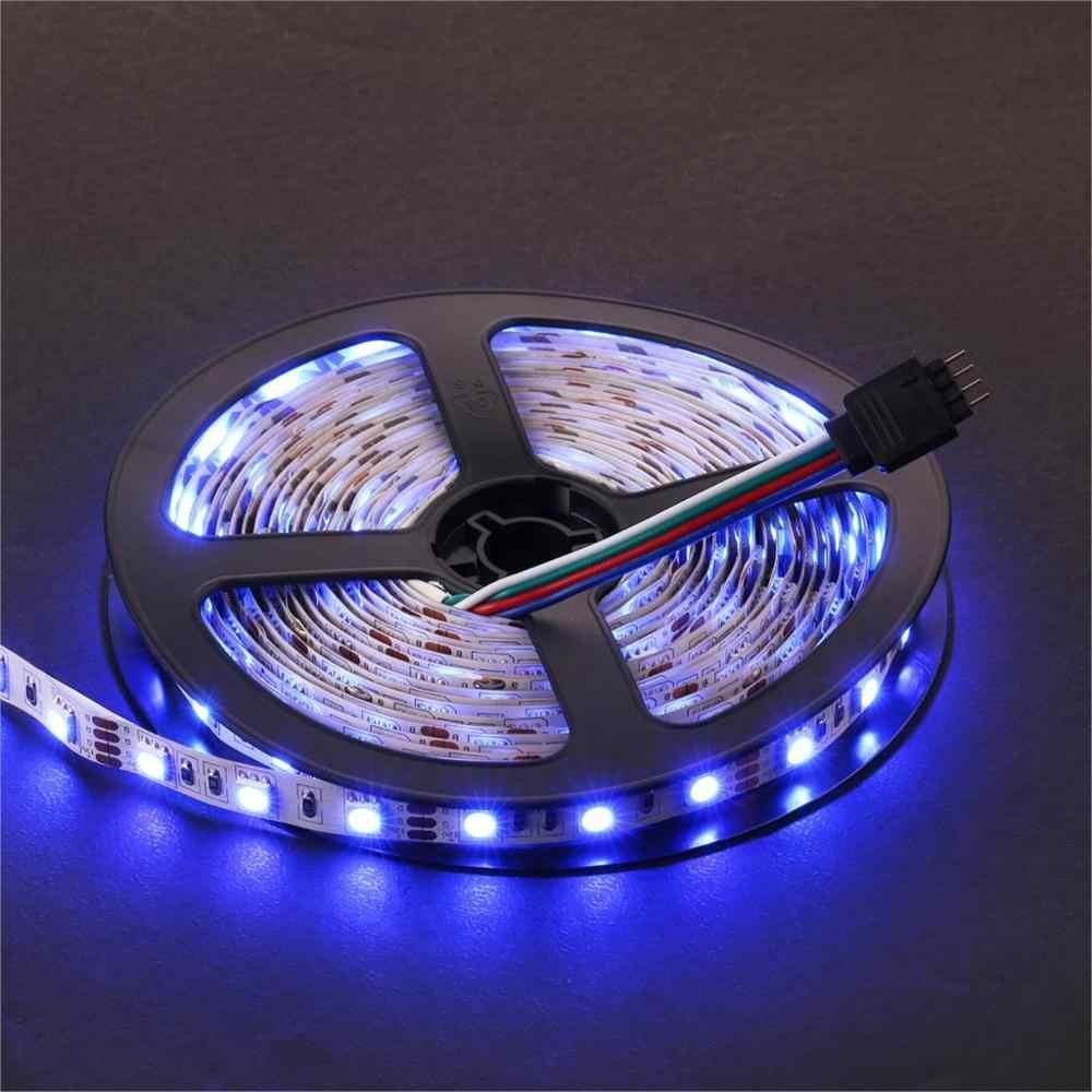 5 M 5050 LED bande lumineuse 60 LED/mètre entrée 12 V bande sûre bricolage chaud blanc rouge bleu vert RGB jaune Flexible ligne de LED 3 M autocollant