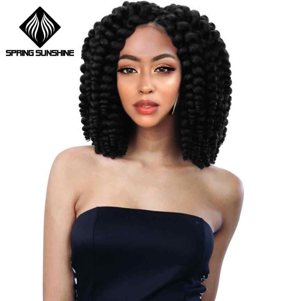 Spring sunshine Soft Funmi Synthetic Hair Weaves 6 Bundles One Pack Black Short Hair Weft Extensions High Temperature Fiber
