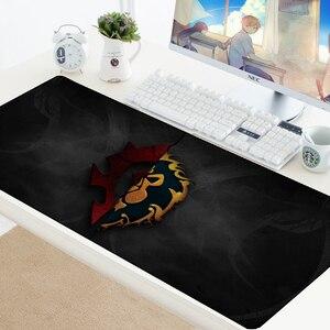 Image 5 - World of Warcraft podkładka pod mysz gamingową prędkość zabezpieczona krawędź WOW duża naturalna guma wodoodporna gra biurko klawiatura mata do komputera Dota