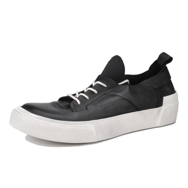 Plana Casuais Luxo Couro Plataforma Branco Marca Do Artesanal Vintage Apartamentos Black Hombre Sapatos Dos Homens Rendas white Tênis De Zapatillas Até Genuína 6SxPwnv7