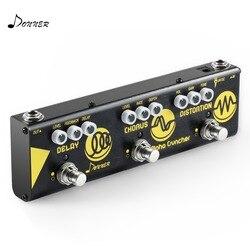 Donner multi pedal efeito de guitarra alpha cruncher 3 tipo efeitos atraso chorus pedal distorção com adaptador