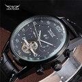 JARAGAR Marca de Moda Casual Homem de Negócios Masculino Relógio Militar Esqueleto Mecânico Automático Esporte relógios De Pulso De Luxo Relógio Vestido