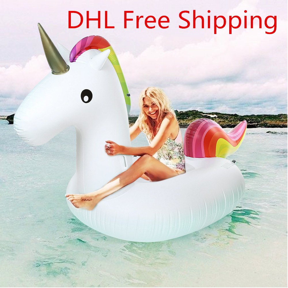 Inflatable Giant Unicorn Air Sofa Air Mattresses Floating Inflatable Mattress Swimming Pool Float Raft Toyfor beach days environmentally friendly pvc inflatable shell water floating row of a variety of swimming pearl shell swimming ring