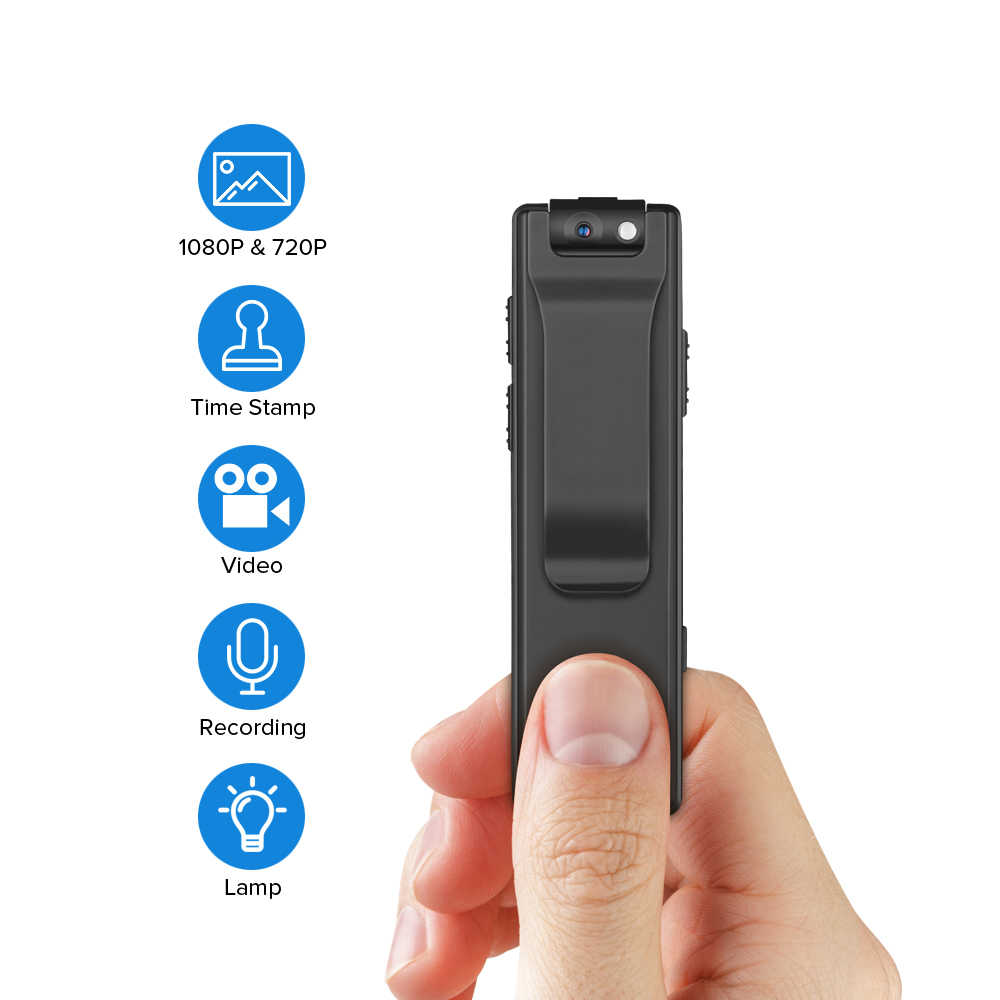 Boblov A3 Mini Digital Camera 16G HD Law Enforcement Cam Magnetic Body Camera Motion Detection Snapshot Loop Recording Camcorder