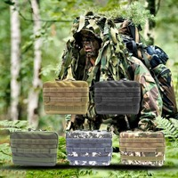 Waterproof Outdoor Tactical Pouch Small Tool Holder Bag Large Zippered Waist Pack Molle Attachment Pouch For