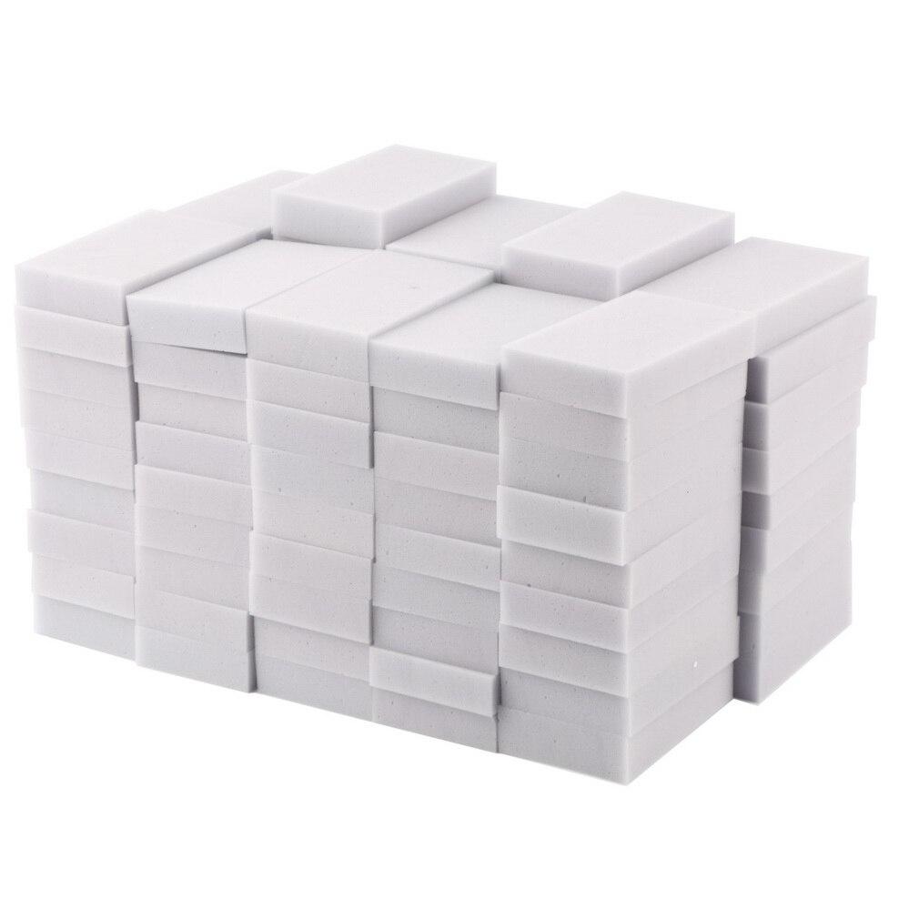 100pcs 100 x 60 x 20mm Magic Sponge Cleaner Super Decontamination Eraser Melamine Kitche ...