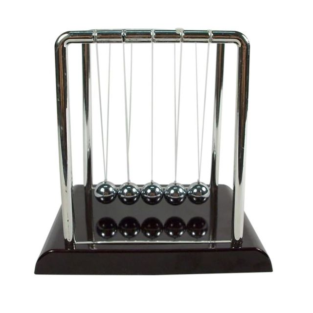 newton pendulum Home Decoration Accessories Newton Cradle Hit Ball Black Base Decoration Science Balance Ball Educational Decor