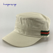 Hats Men's Spring & Summer Outdoor Flat Top Hat Casual Sticker Cap Youth Wide Canopy Sun Cap Sports Hat