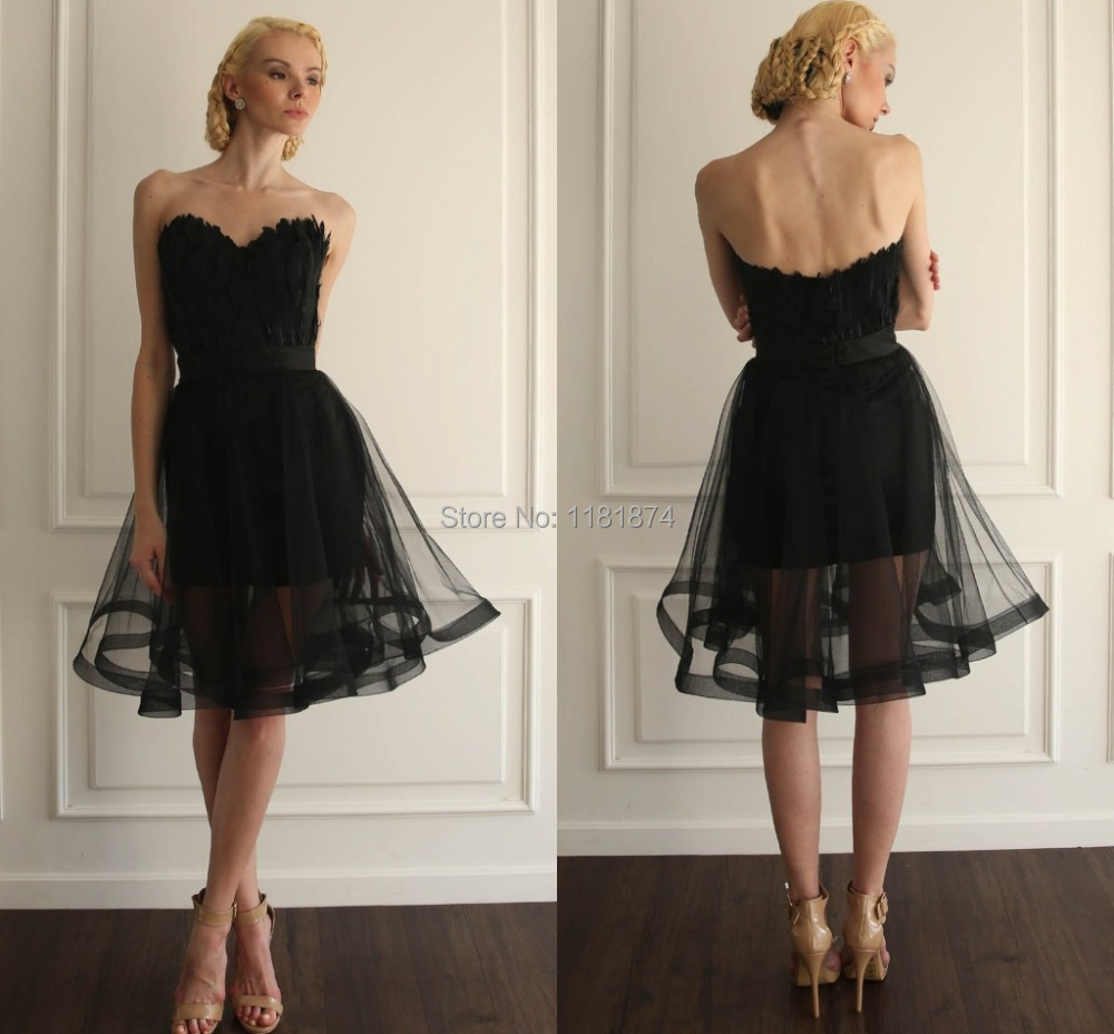 Knee Length Black Prom Dresses of 2015