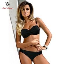 Ariel Sarah Bandage Bikini 2018 Push UP Swimwear Swimsuit Women Bathing Suit Halter Plus size Bikini Set Maillot De Bain Q256