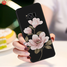 ASINA Flower Case For Samsung Galaxy S8 Cover Silicone Original 3D Relief Bumper A5 A6 A7 A8 S10 Plus Note 9 Cases