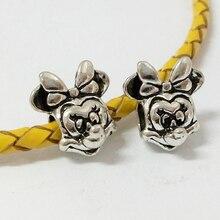 10 PC Free Shipping silver alloy big hole Animal Mouse Shape European Beads Fit Charm Bracelet Bangle