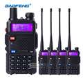 4pcs BaoFeng UV5R 5W Dual Band VHF UHF Handheld CB Radio Walkie Talkies with Earpiece Ham Radio Communicator HF Transceiver