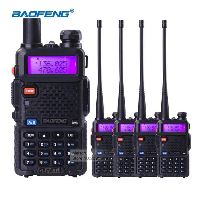 US $102 5 18% OFF|(4pcs) Baofeng UV5R 5W Dual Band VHF UHF Handheld CB  Radio Walkie Talkies with Earpiece Ham Radio Communicator HF Transceiver-in