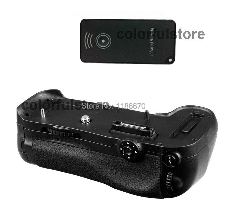 ФОТО Battery Hand Grip Vertical Shutter Fit For Nikon D800 D800E DSLR Camera + IR Remote Control, replace of MB-D12, Free Shipping!