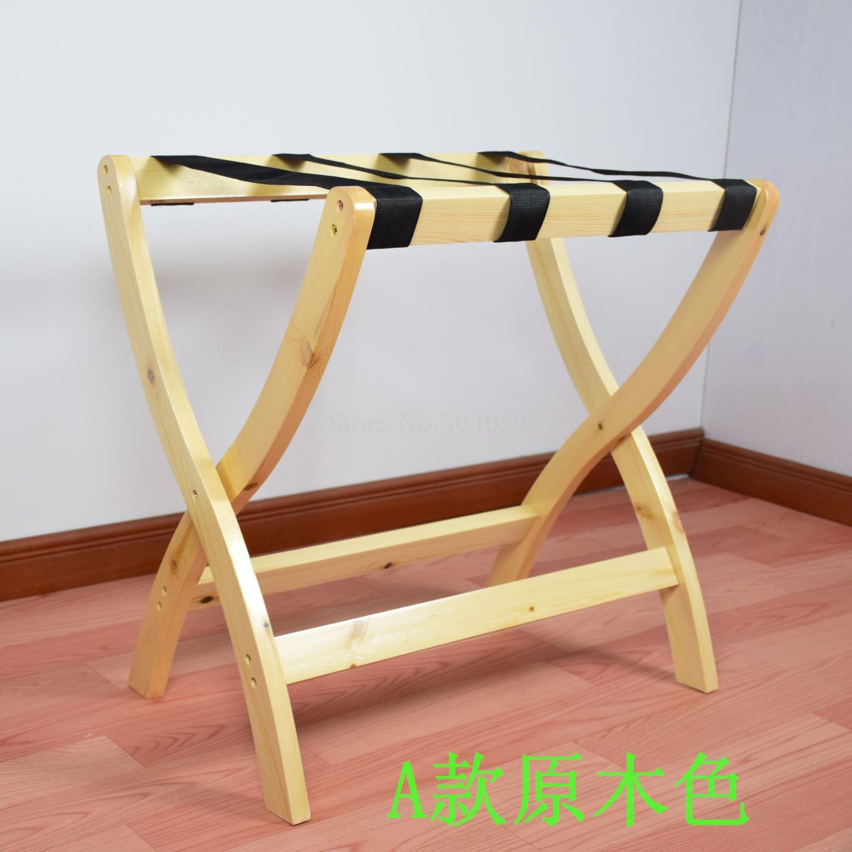 Гостиничная мебель для отеля багажные стеллажи прикроватная тумбочка для спальни складной домашний пол вешалка для одежды дерево - Цвет: VIP 5