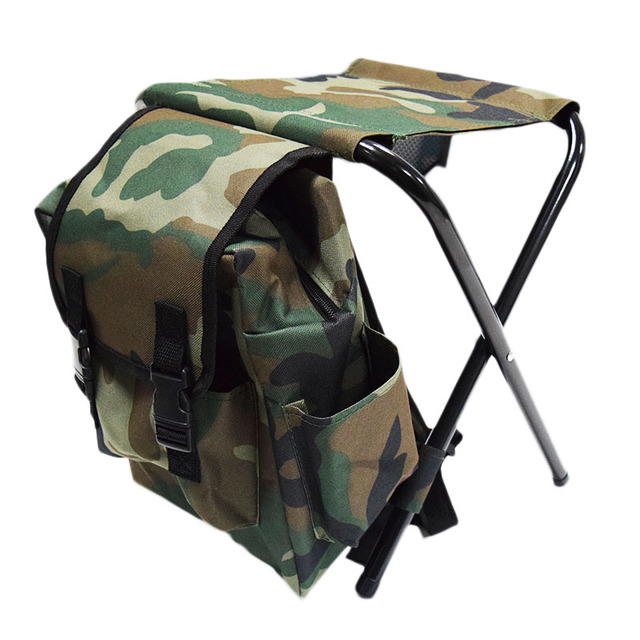 Backpack Chairs Wheelchair Dog Fishing Chair Folding Camouflage Bag Portable Stool Outdoor 32