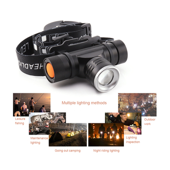 xm l2 led head lamp rechargeable headlamps light head led flashlight zoomble waterproof usb headlight head torch use 18650 5