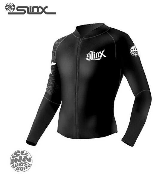 Slinx Men Women 1109 5mm Neoprene Fleece Lining Warm Jacket Wetsuit Kite Surfing Windsurfing Swimwear Boating Scuba Diving Suit hisea 5mm neoprene wetsuit men scuba diving suit fleece lining warm snorkeling kite surfing spearfishing swim suit