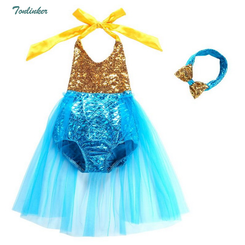 Collection Here Kids Girls Mermaid Swimsuits Tutu Bikini Dress With Hair Hoop Children Swimwear Rompers Backless Beachwear 2018 New Summer By Scientific Process Mother & Kids