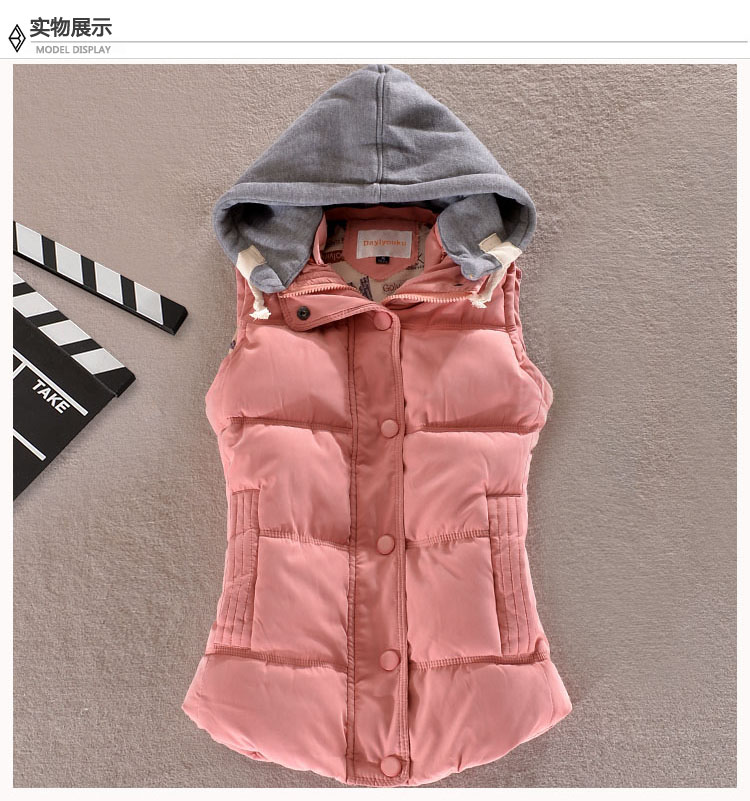 Woman Spring Plus Size Removable Hooded Thick Down Jackets