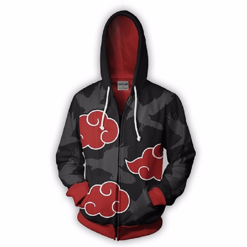 Men's zip-up hoodie dragon ball super jacket 3D The red spider print anime hoodie Cosplay zip-up sweatshirt jacket