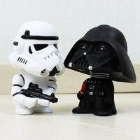 New Star Wars Figuras de brinquedo Black Knight Darth Vader Stormtrooper agitar a cabeça pvc action figure diy educacional toy boneca para presente
