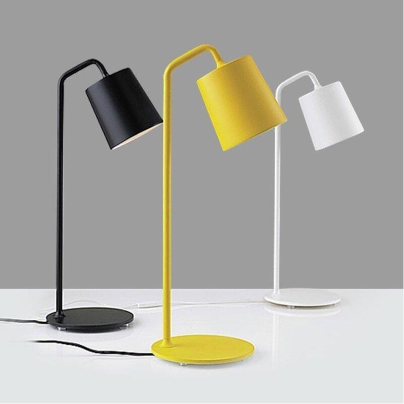 Novelty Modern Europe Colin Wrought Iron Bedside Light Bedroom table lamps Desk Lamps Yellow/white/black Reading Lights Living рубашка colin s colin s mp002xm0wcm1