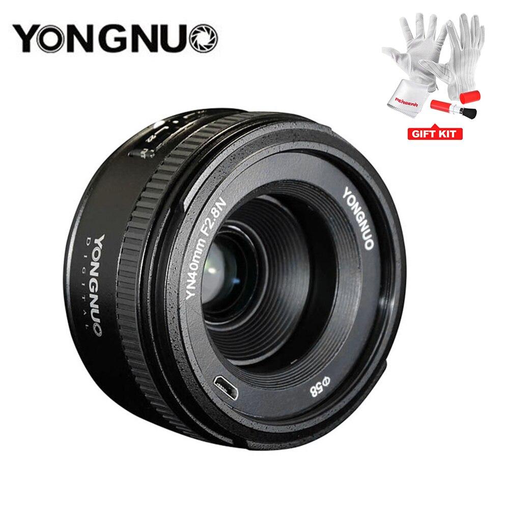 Objectif YONGNUO 40 MM F2.8 léger Standard AF/MF mise au point manuelle automatique Lente YN40mm pour les appareils photo reflex numériques Nikon