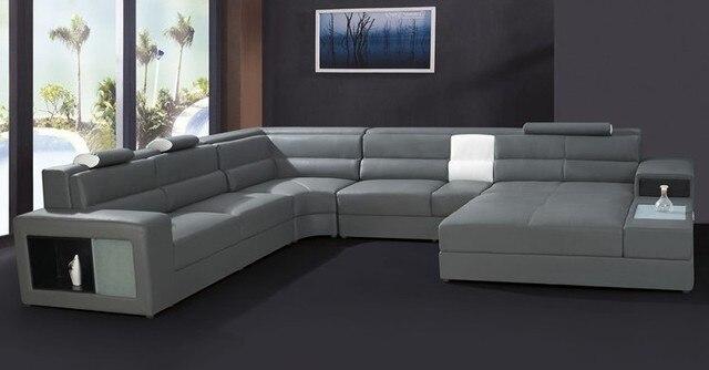 Moderne Möbel Sitzgruppe Leder Sofagarnitur Wohnmöbel Wohnzimmer Gesetzt Weiße  Farbe Sofa