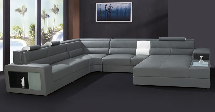 Modern furniture sofa set leather sectional sofa home - Modelos de sofas ...