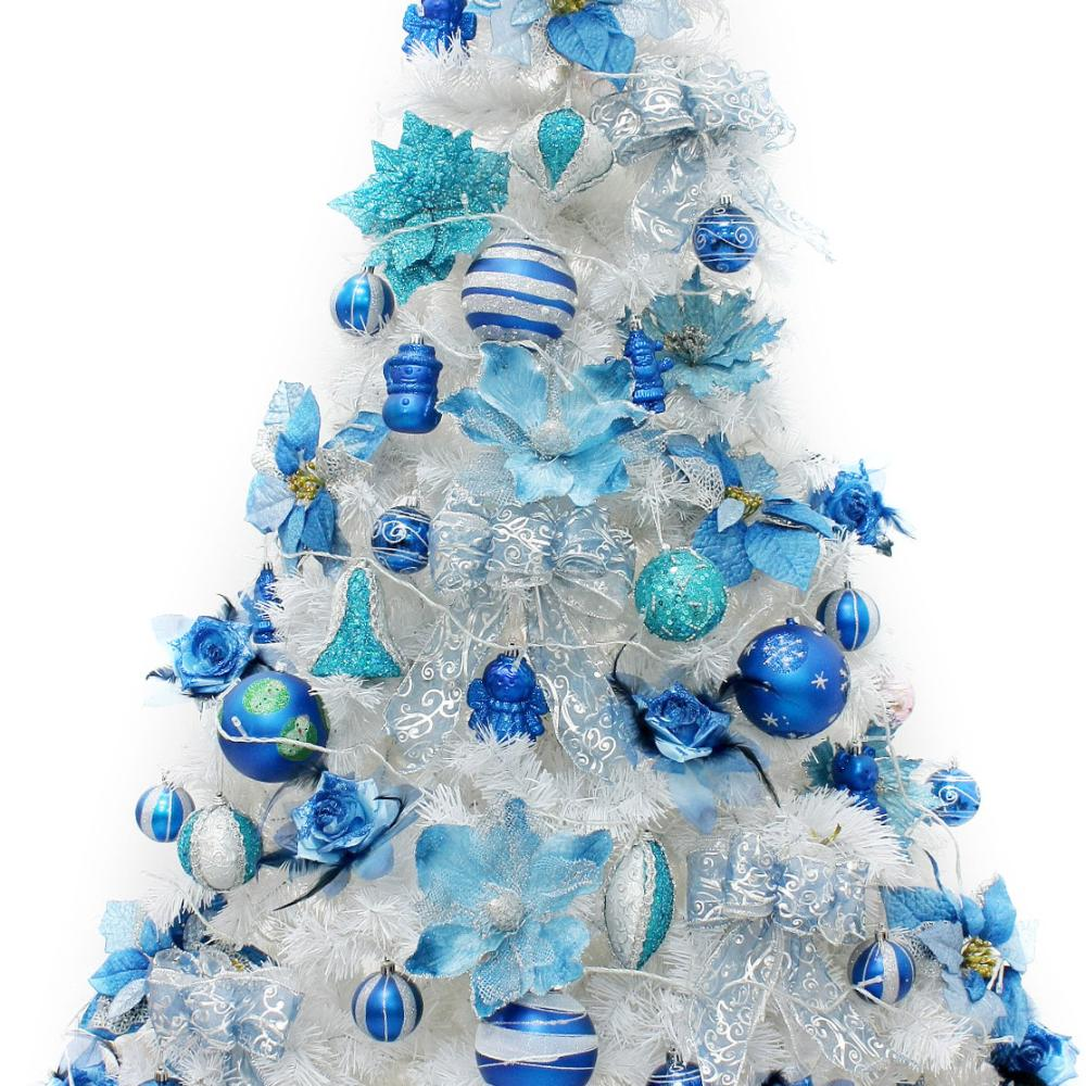 Blue christmas tree decorations - Online Shop Packages Decorated Christmas Tree 1 2 2 1 Miou Style Sapphire Blue Color White Tree Decorated Christmas Tree Package Aliexpress Mobile