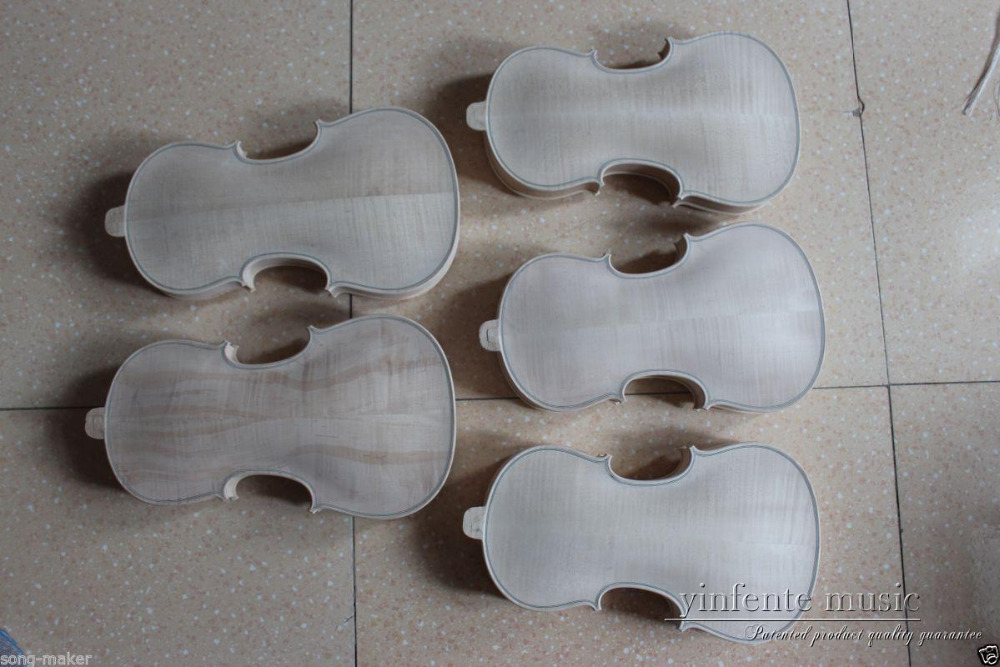 5 pcs  4/4 unfinished violin Flame maple wood 4/4 High quality New one 4 string 4 4 violin electric violin acoustic violin maple wood spruce wood big jack green color