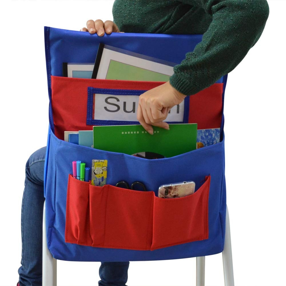 Chairback Buddy Blue//Red by Carson-Dellosa Chair pocket organizer new