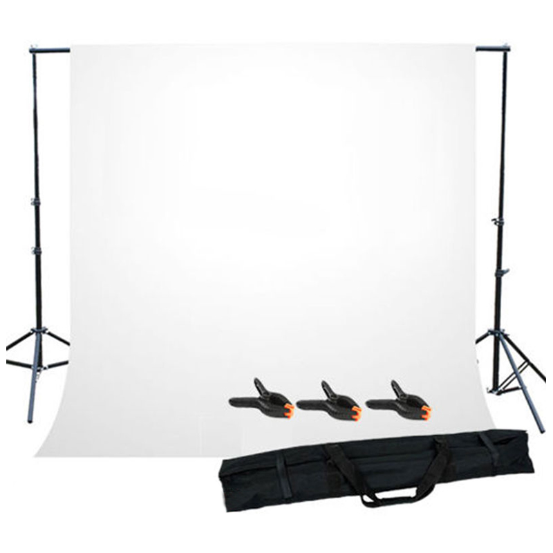 MAHA Hot Photo Studio Background Support Stand with White Backdrop Carrying Case inno new arrive photo studio background support 3m x 2m backgroud stand kits with free backdrop high quality hot sale psbs2