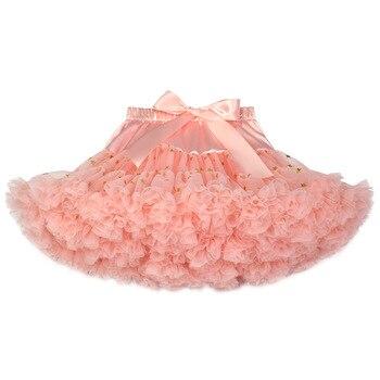 f4010f238 Faldas tutú arco iris para niñas, falda de tul mullida para bebés, faldas  para baile de Ballet, ...