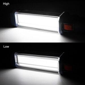 Image 5 - USB şarj edilebilir 18650 el feneri 2 modları COB LED manyetik çalışma ışığı döner kanca araba tamir çalışma ışığı güç bankası fener