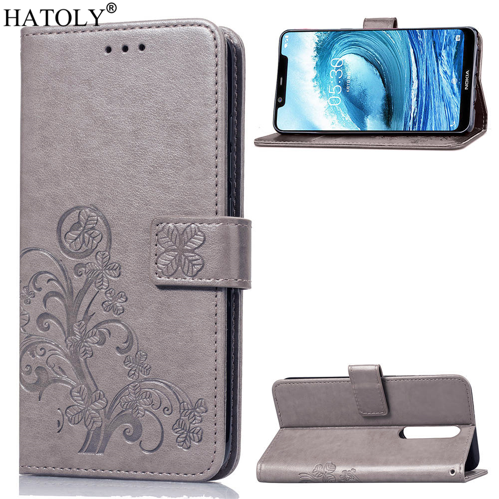 For Cover Nokia 5.1 Plus Case Flip Leather Case for Nokia 5.1 Plus Wallet Case Bag Shell Silicone Cover For Nokia 5.1 Plus X5