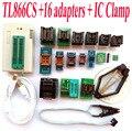 TL866CS programador + 16 adaptadores + IC BRAÇADEIRA de Alta velocidade TL866 AVR PIC Bios 51 MCU Eprom Programmer PLCC SOP Inglês manual