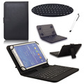 USB Keyboard Leather Stand Case Cover For Universal  10 10.1 Inch Android Tablet PC 1520